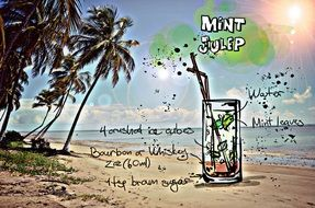 recipe of the cocktail Mint Julep, its summer colors