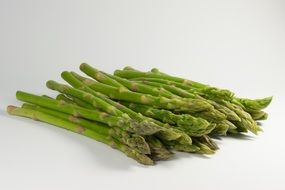 lots of green asparagus