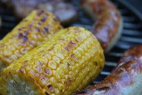 barbecue sausage corn grill