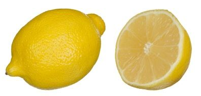 lemon and half a lemon
