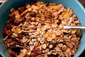 muesli with raisins and cereals