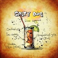 alcoholic salty dog cocktail