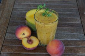 healthy fruit peach smothie