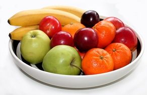 fresh fruits in bowl