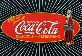 drink coca cola poster drawing