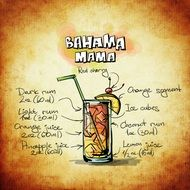 bahama mama alcoholic cocktail