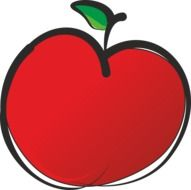 clipart of fruit apple