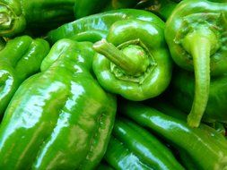 green paprika fresh vegetables
