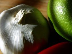 garlic and lime as spices