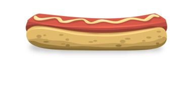 hot dog in graphic illustration