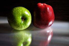 green red apple fruit