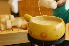 national dish swiss fondue