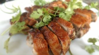 duck roasted chopped vietnamese