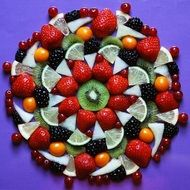 sliced fruits and berries