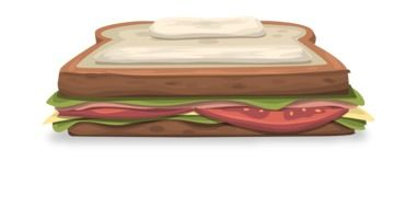 sandwich bread tomatoes drawing