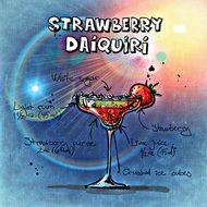 strawberry daiquiri summer cocktail