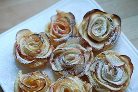 rose shaped baked apples, dessert