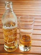 almdudler bottle glass
