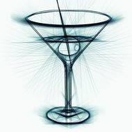 pencil drawing of a cocktail glass
