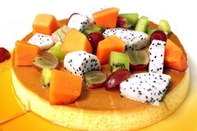 fruit custard dessert