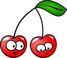 graphic image of two cherries