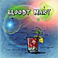 bloody mary alcoholic cocktail