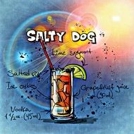 salty dog alcoholic cocktail