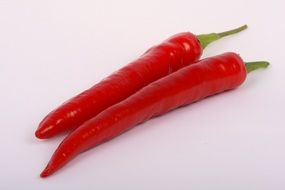 two red chilli peppers