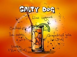 salty dog cocktail drink recipe