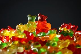 colorful gummi bears