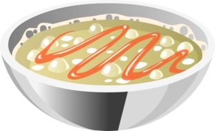 creamy soup bowl vector drawing