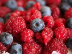 Colorful healthy tasty berries