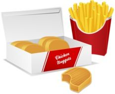 graphic image of the fast food