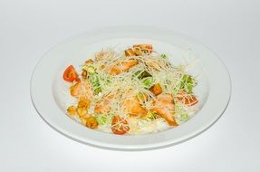 supply of useful salad on a white plate