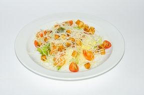 colorful salad on a white plate