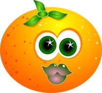 funny orange citrus