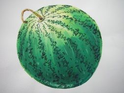 drawing green watermelon