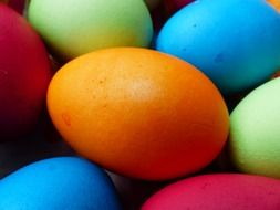 colorful beautiful easter eggs