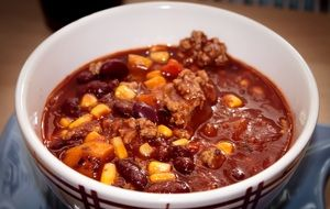 delicious chili con carne for lunch