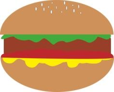 drawing of a hamburger on a white background