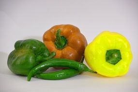 different kinds of peppers