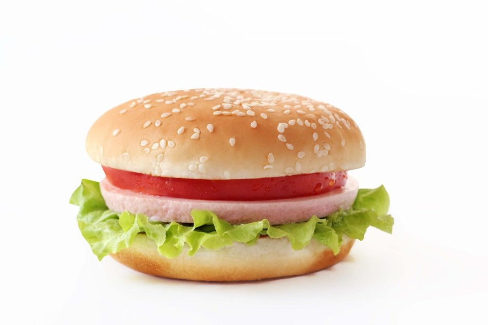 hamburger burger tomato salat meat fast food