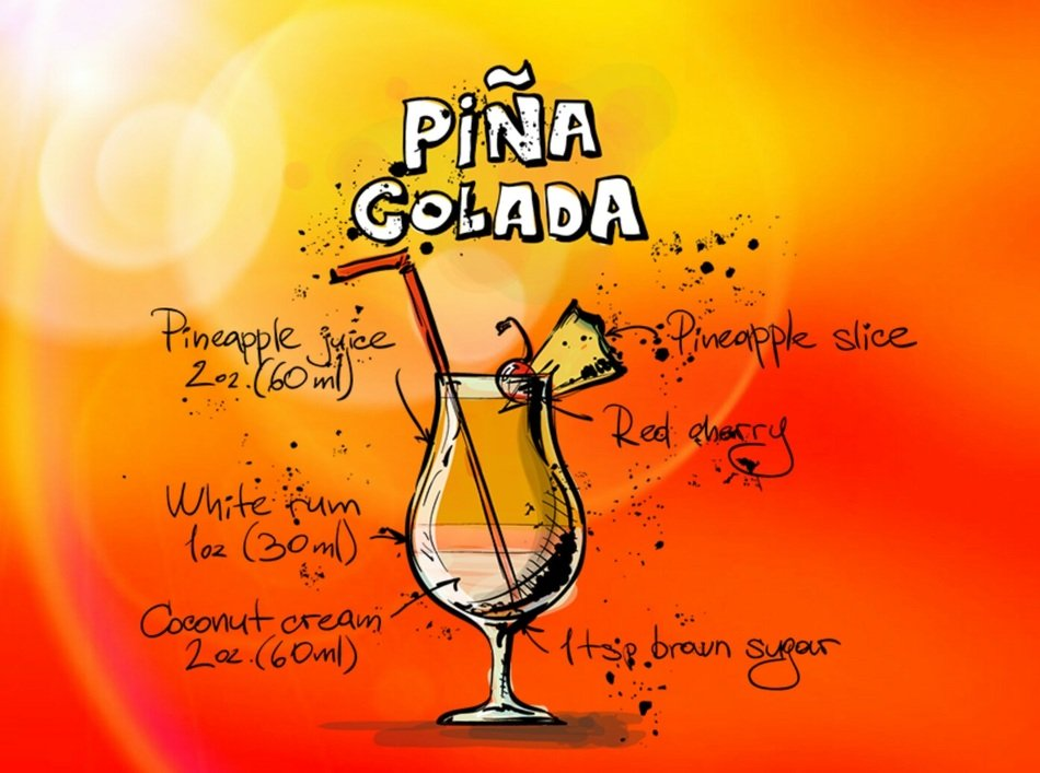 pina colada alcohol drink