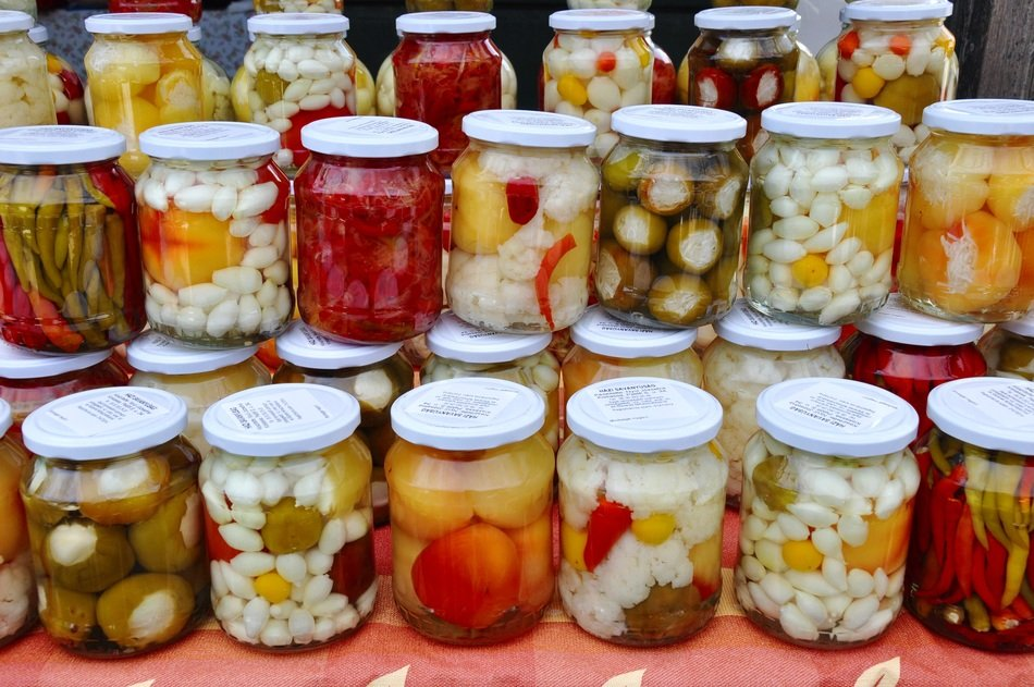 jar of mixed food pickles