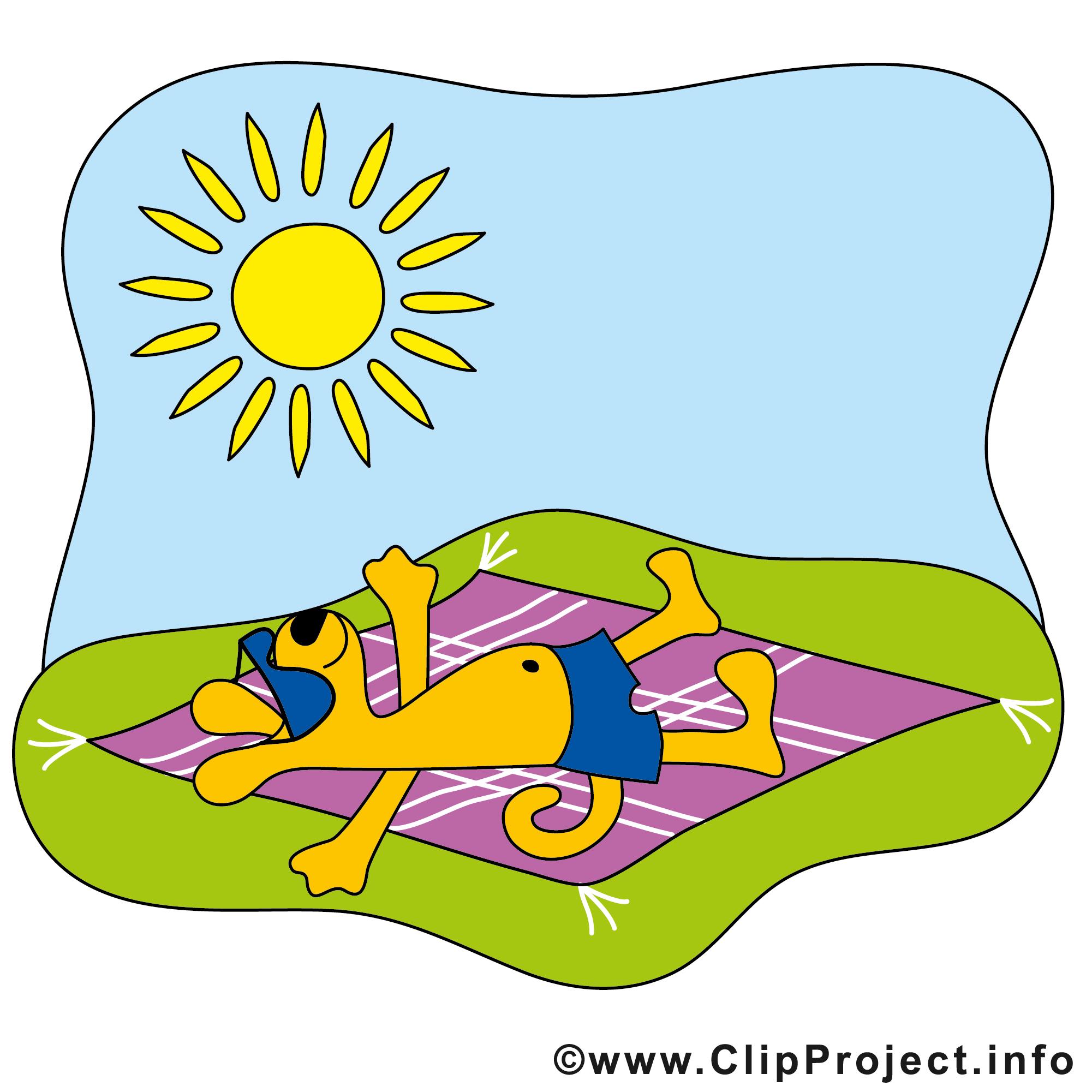 clipart sol og sommer