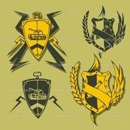 Clipart illustration of Military Emblems