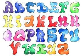 colorful letters as a picture for clipart