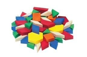 Pattern Blocks Clip Art drawing