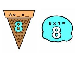 Multiplication ice cream clipart