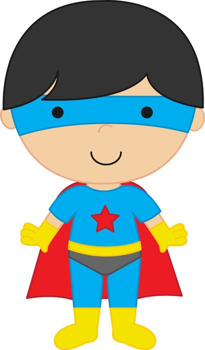 Super Hero, cartoon child boy